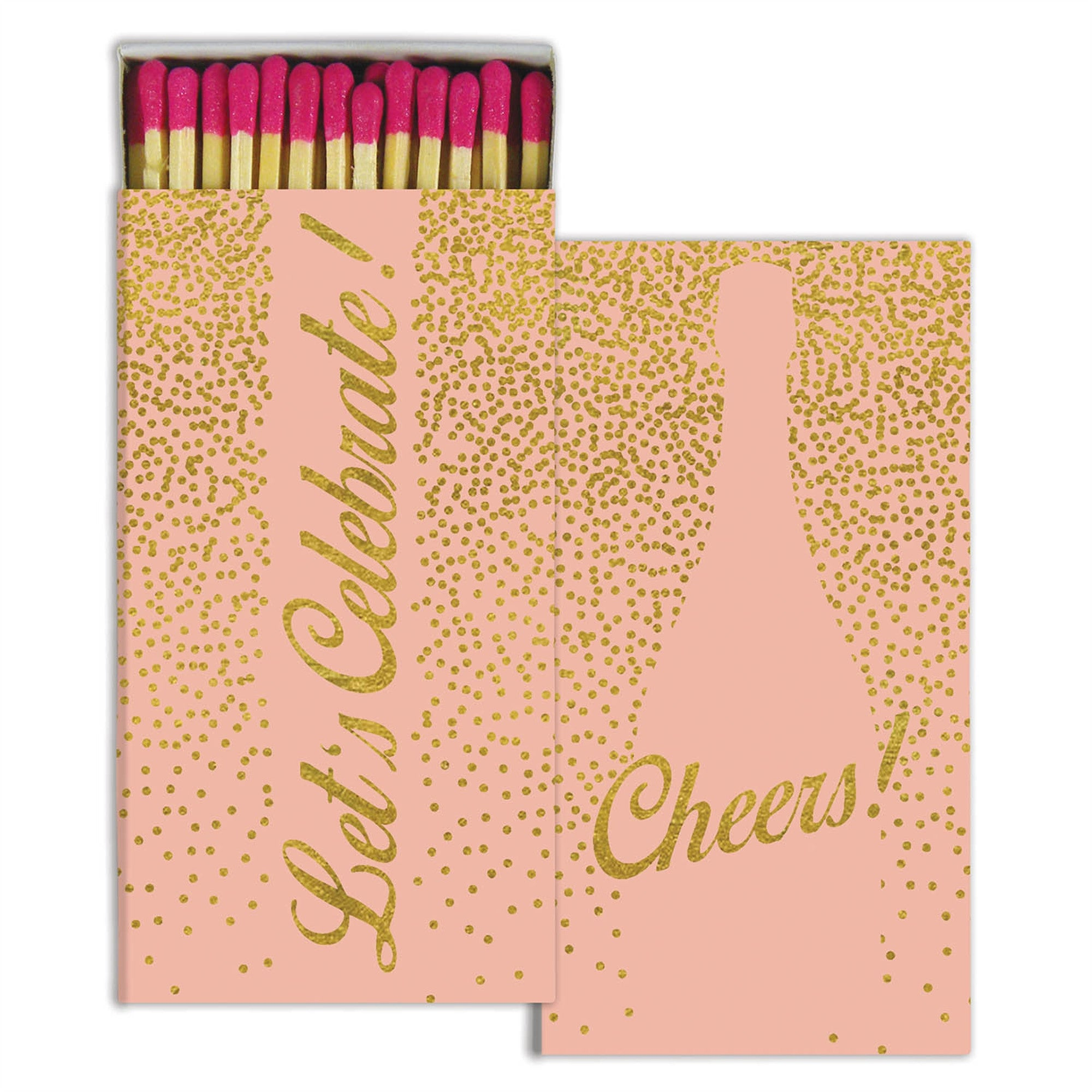 Matches - Cheers - Gold Foil - CARLYLE AVENUE