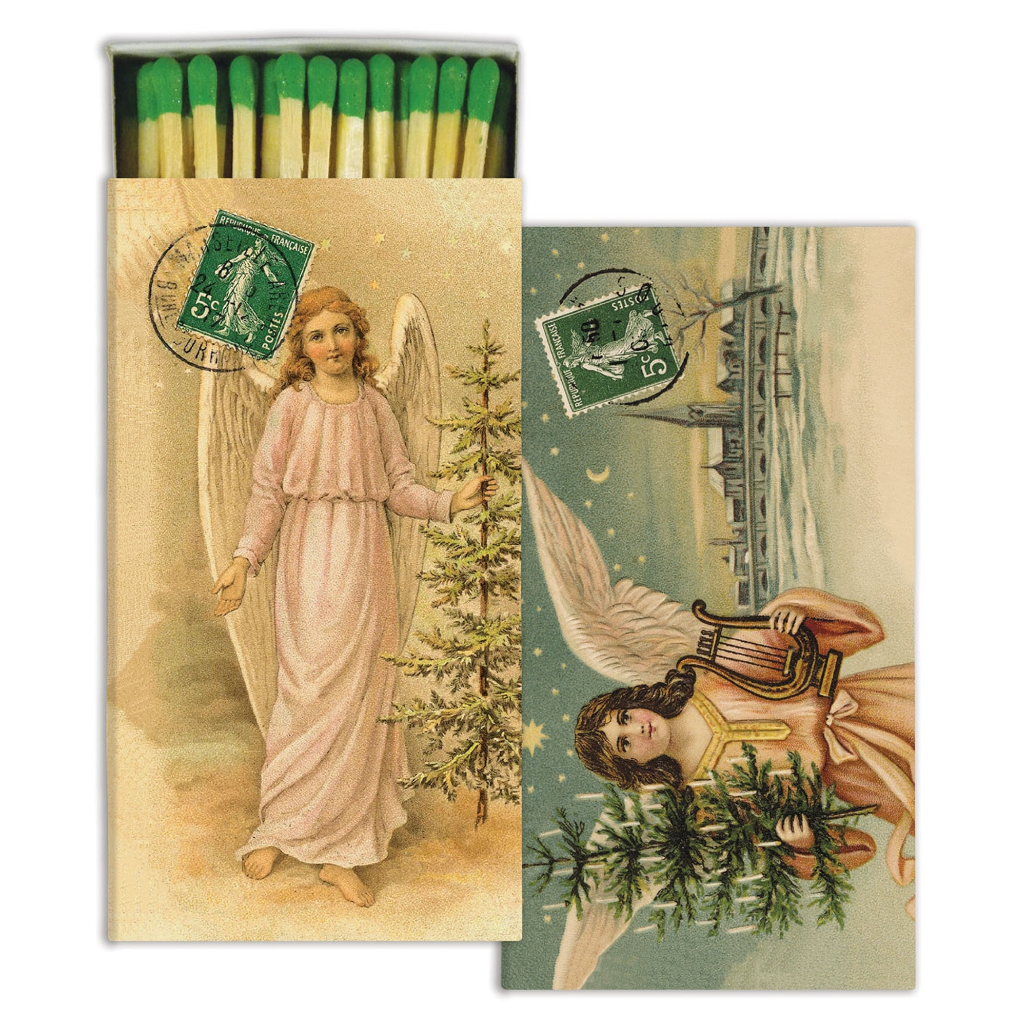 Matches - Christmas Angels - Green - CARLYLE AVENUE
