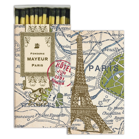 Matches - Map of Paris