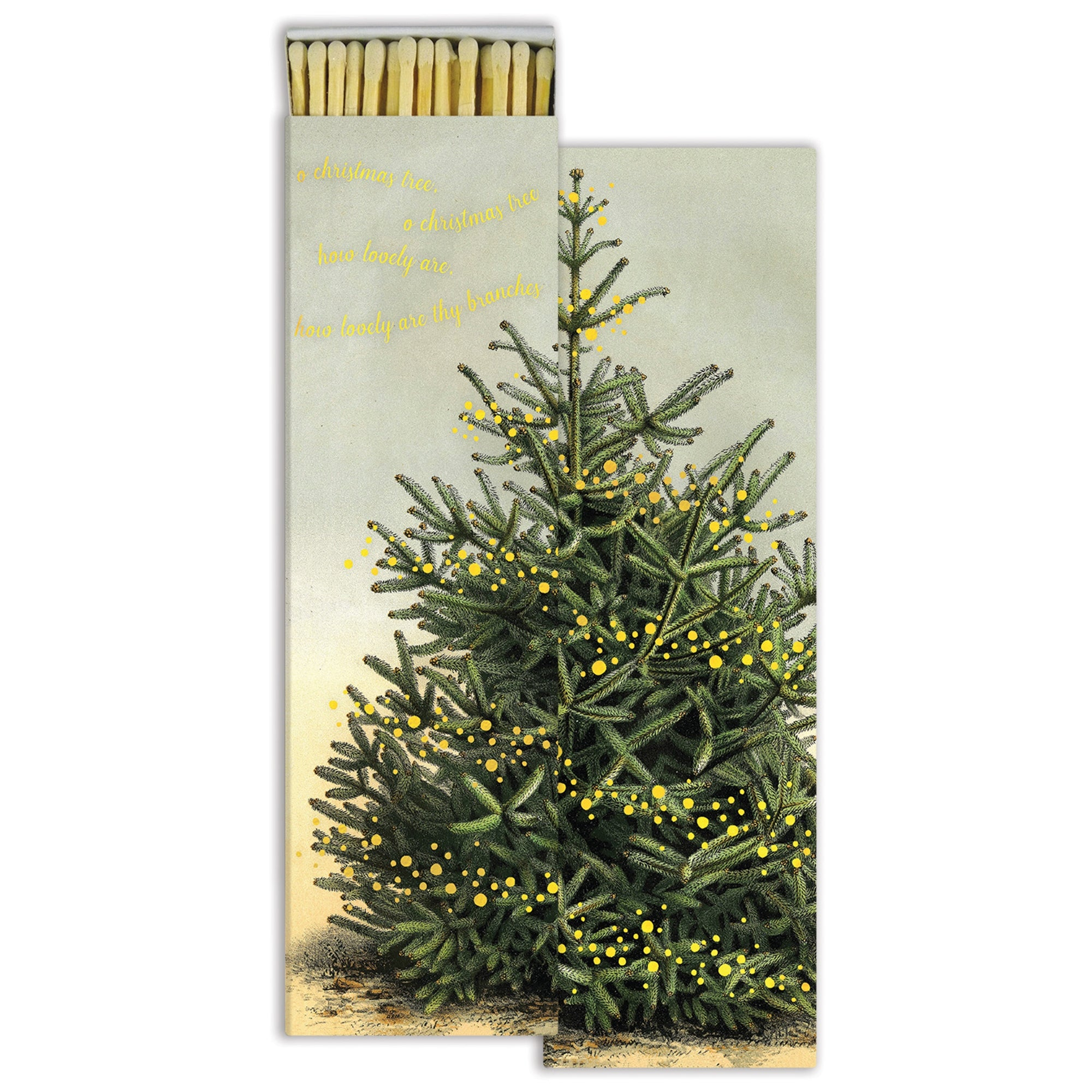 Long Matches - Oh, Christmas Tree - Gold Foil - CARLYLE AVENUE