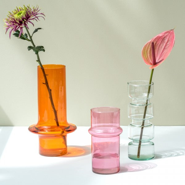 Pink Recycled Glass Vase - CARLYLE AVENUE