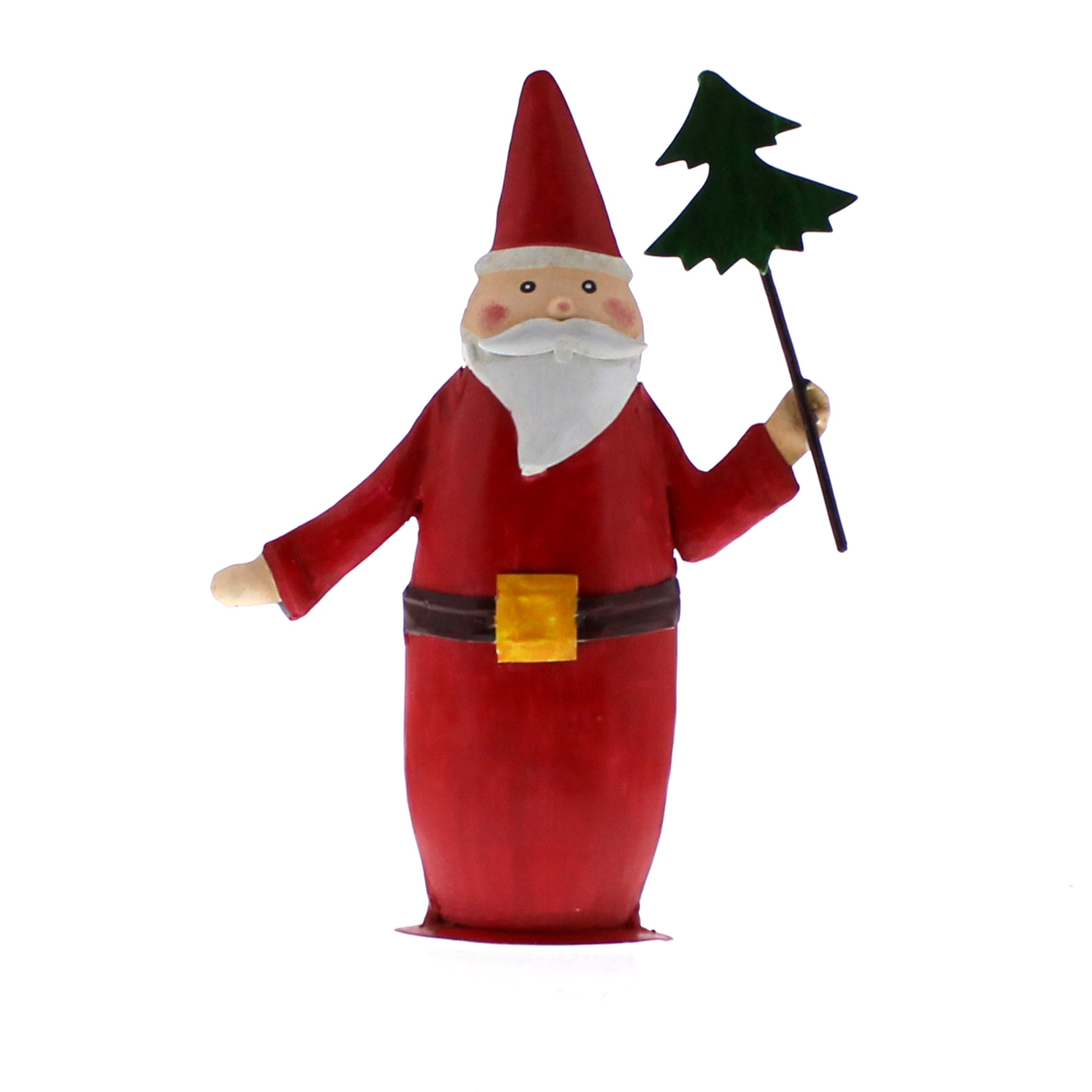 Painted Metal Santa Trio - Set of 3