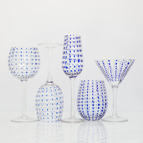 Blue Dot Glassware - Set of 6