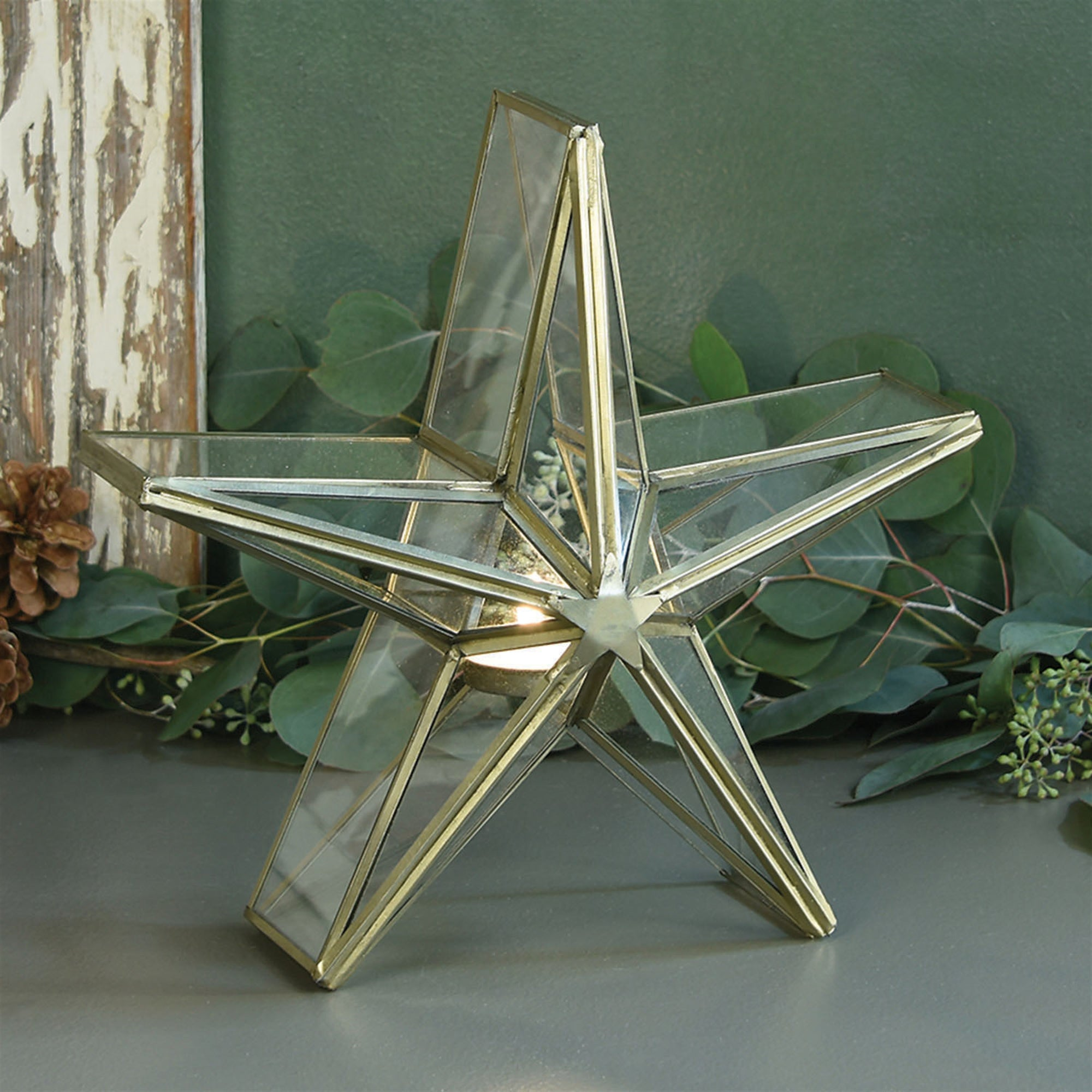 Glass Star Candle Holder - 2 styles