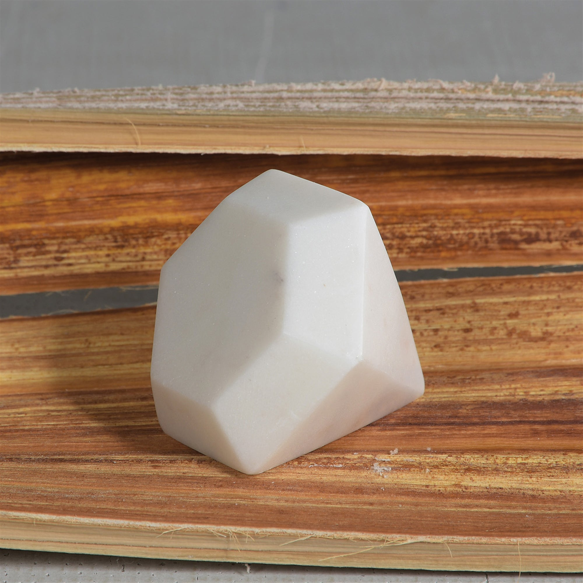 Soapstone Geometric Object - Diamond - CARLYLE AVENUE