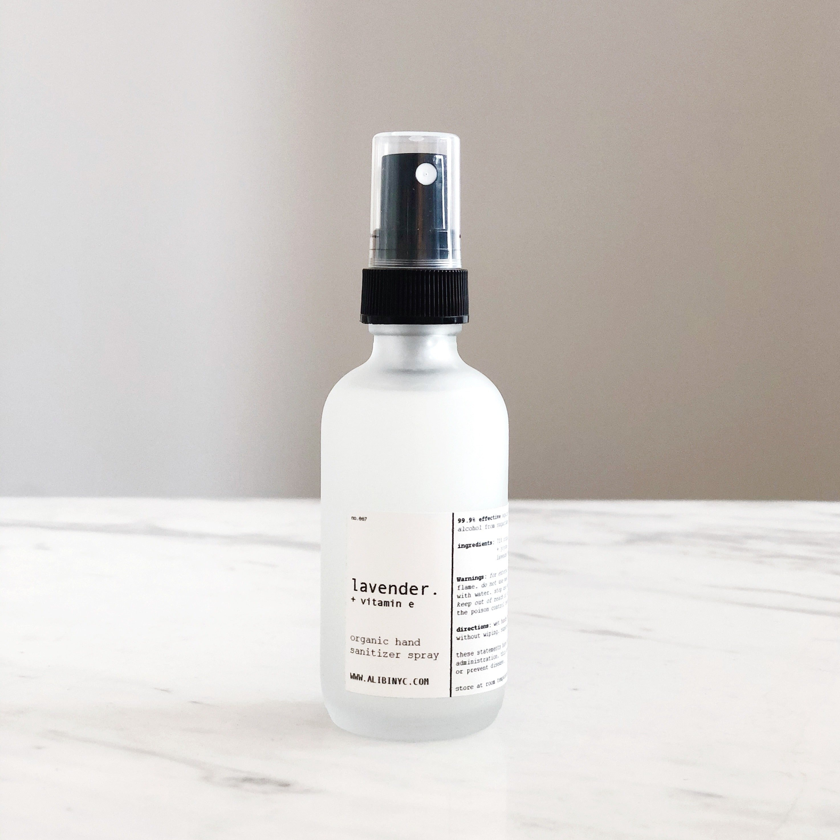 Alibi NYC Organic Hand Sanitizer Spray - CARLYLE AVENUE