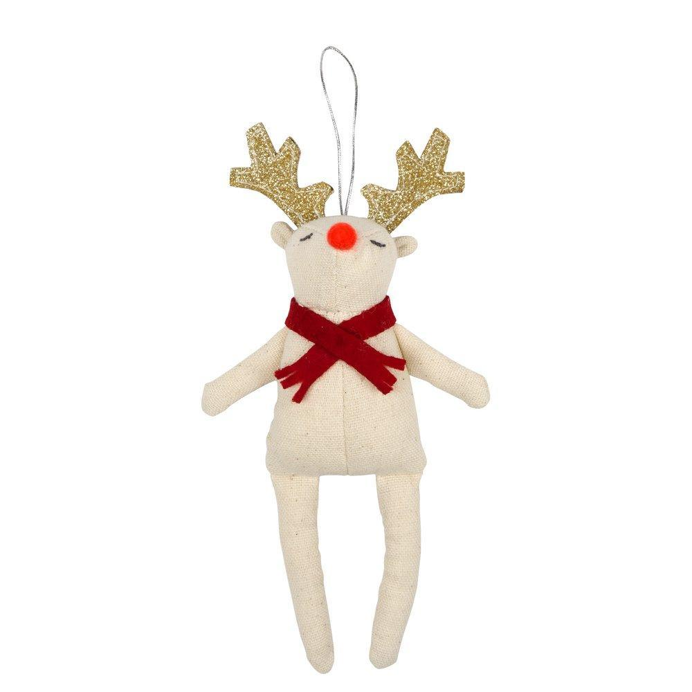 Red Scarf Reindeer Tree Decoration