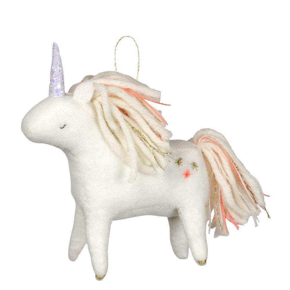 Unicorn Felt Tree Decoration - CARLYLE AVENUE