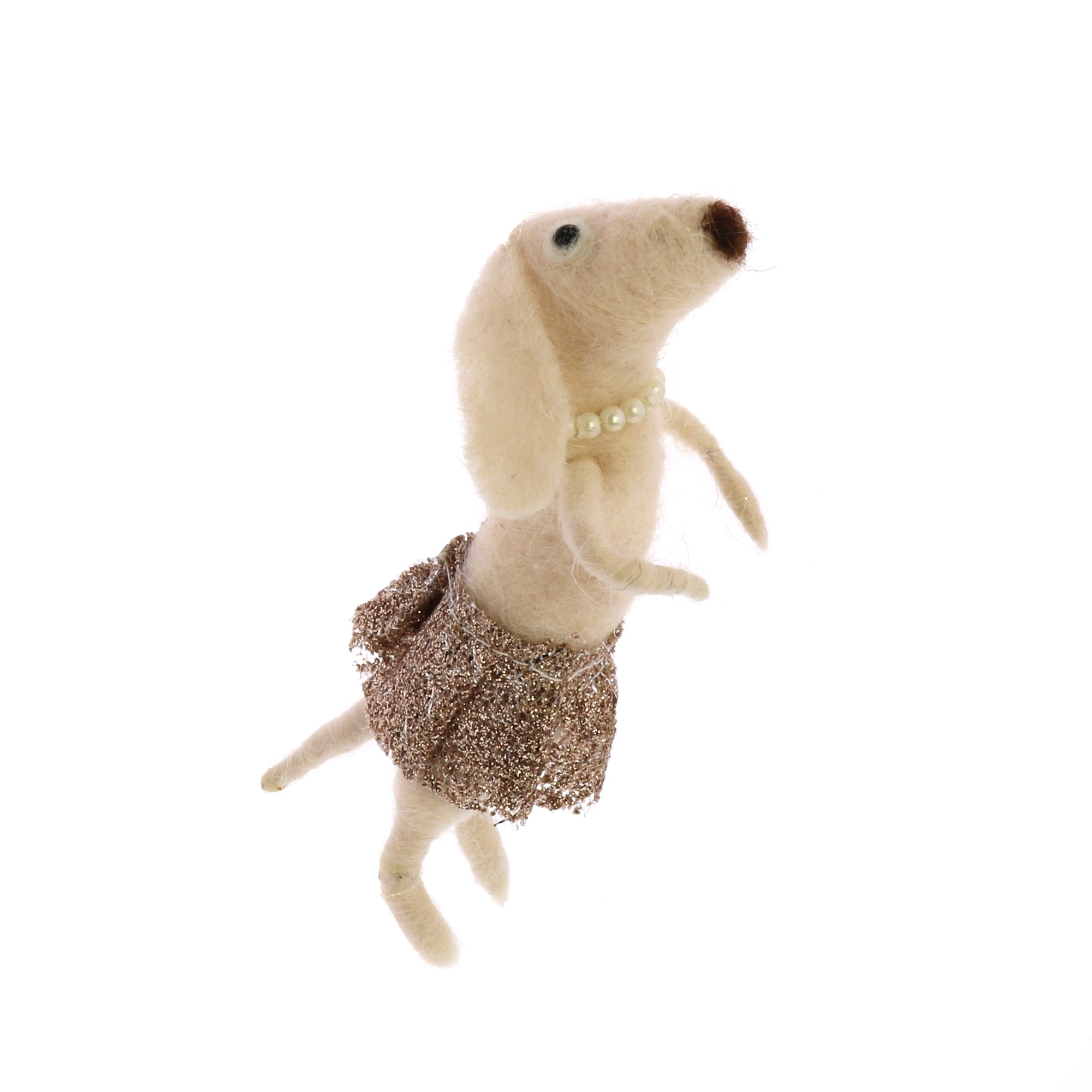 Felt Ornaments - Dog with Tutu - 2 Colors