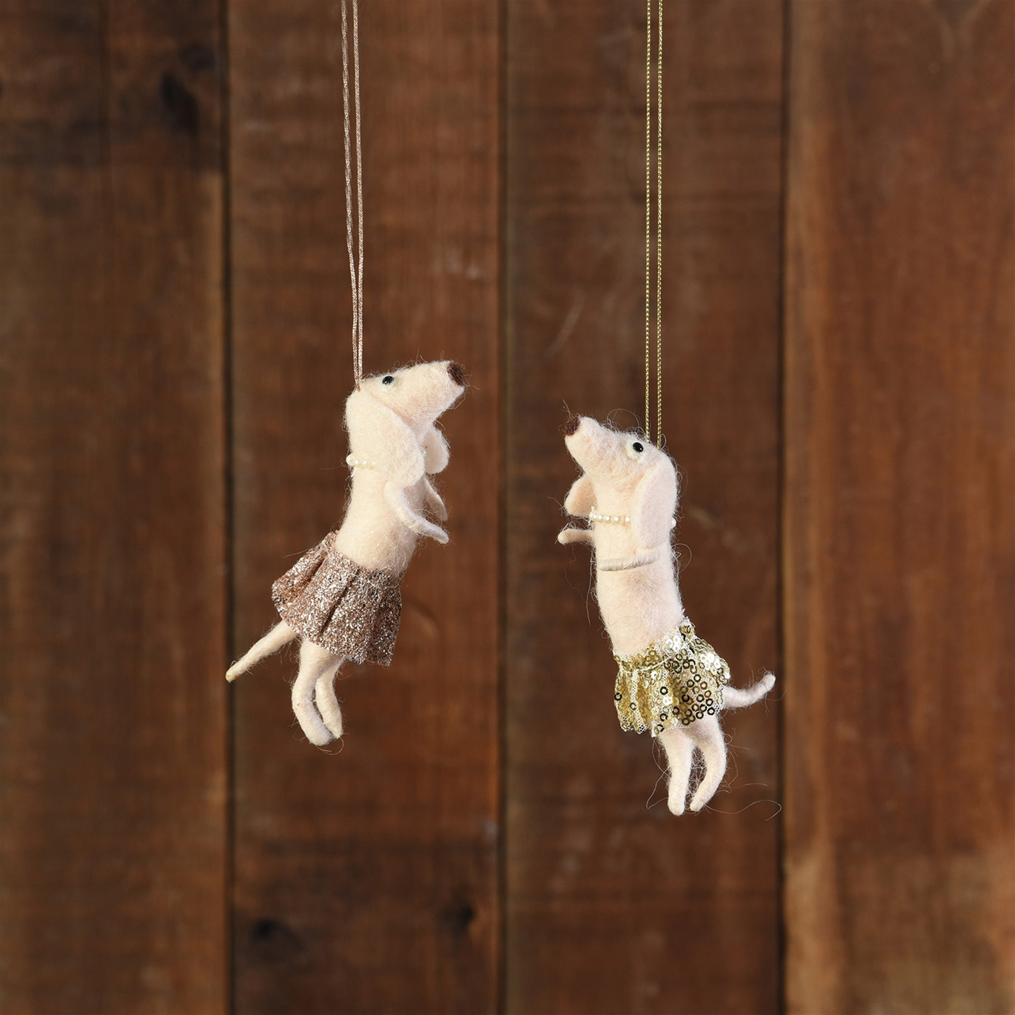Felt Ornaments - Dog with Tutu - 2 Colors - CARLYLE AVENUE