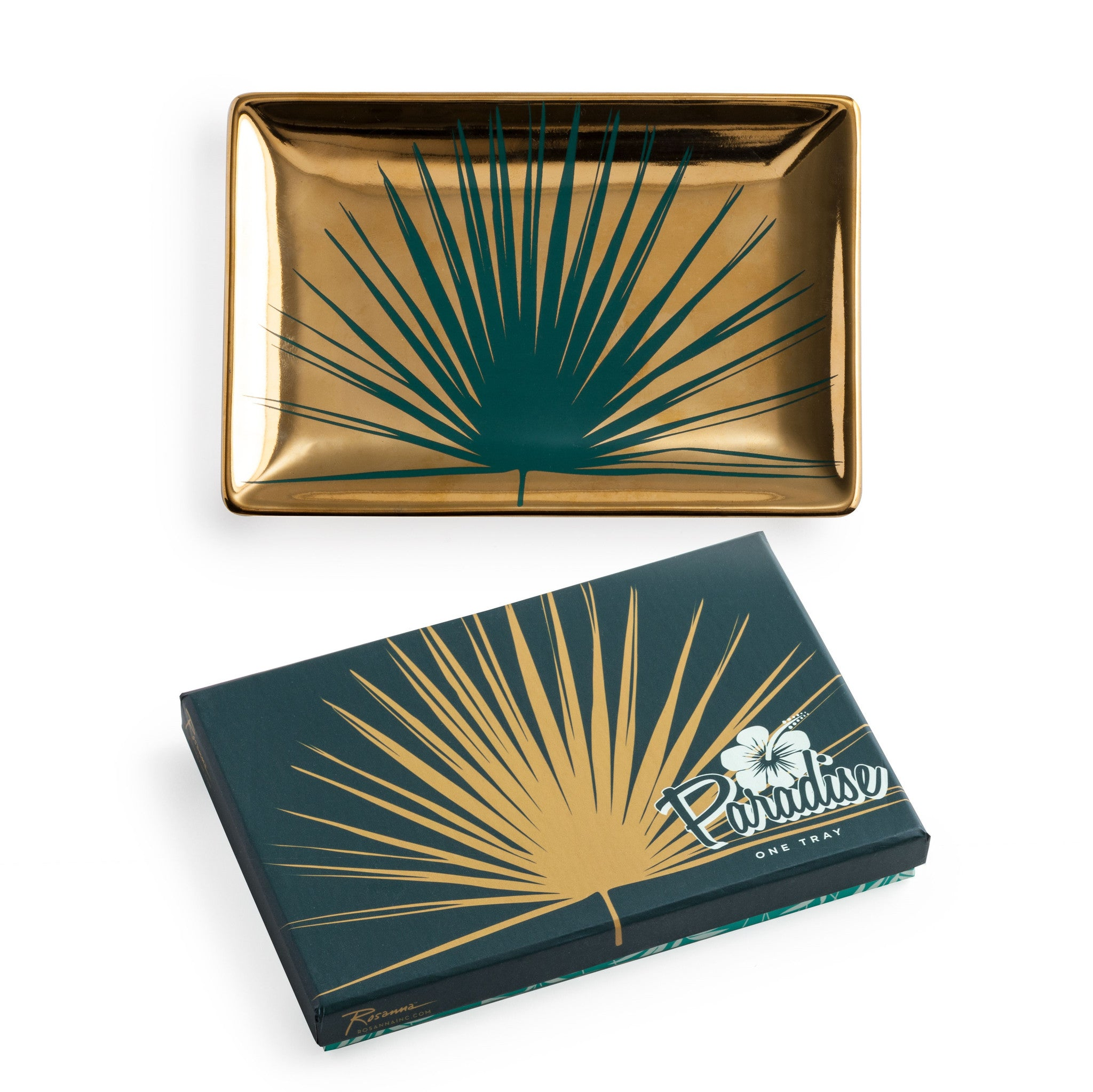 Paradise Tray Gold Palm