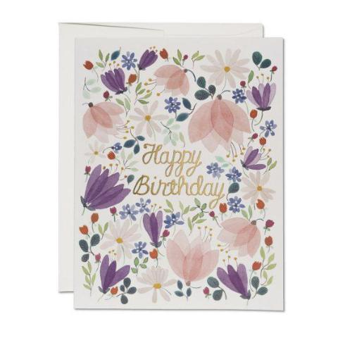 Birthday Whispers FOIL Card - CARLYLE AVENUE