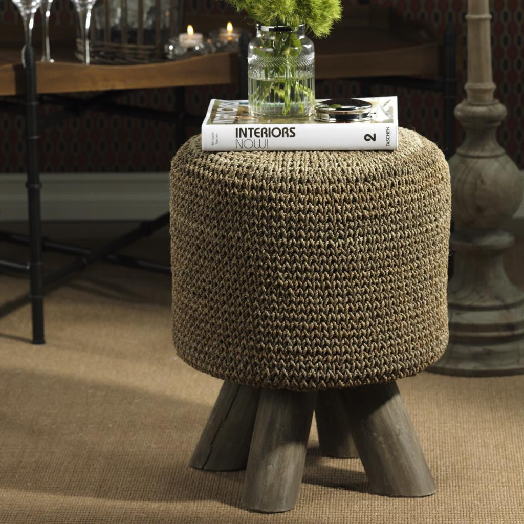 Barclay Butera Equestrian Woven Foot Stool - Default Title - CARLYLE AVENUE - 2