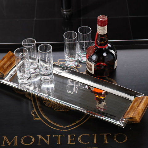 Montecito Rectangular Tray with Resin Handles