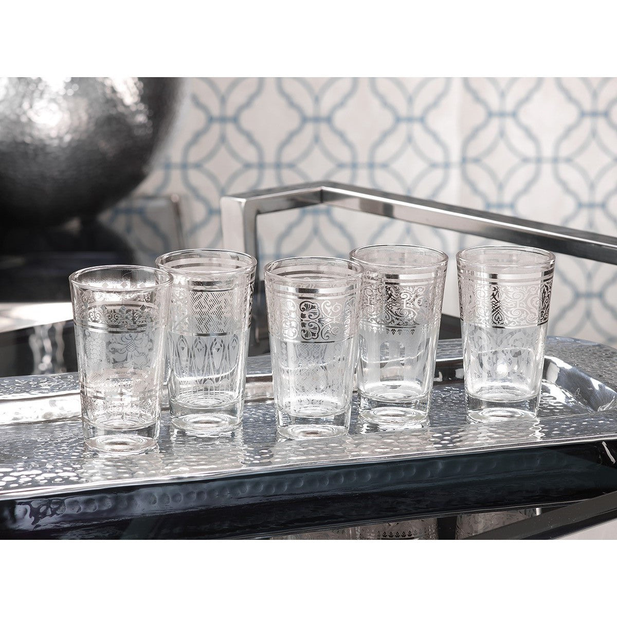 Casablanca Glass Tealight Holders - White - Set of 12 - CARLYLE AVENUE