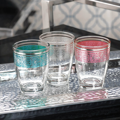 Casablanca Small Glass Tealight Holders - Set of 12