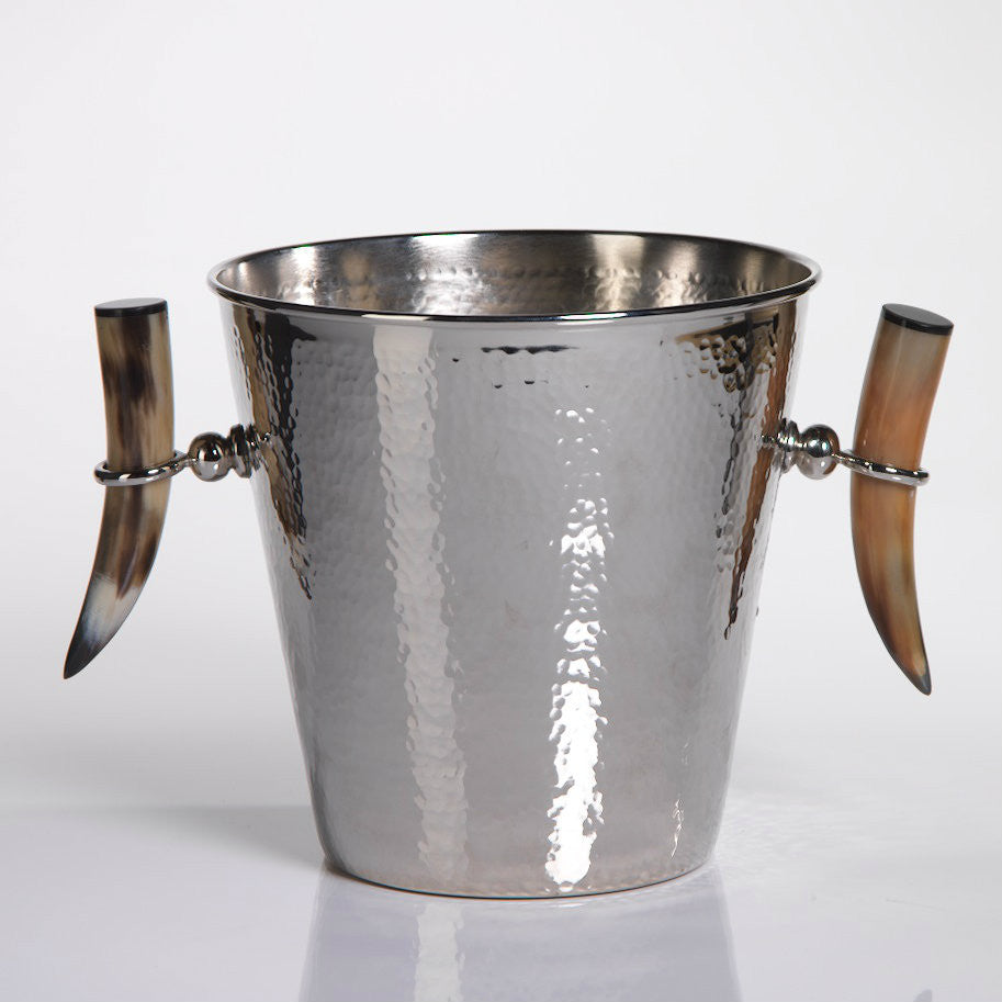 Casablanca Hammered Bowl and Ice Bucket with Horn Handles - CARLYLE AVENUE