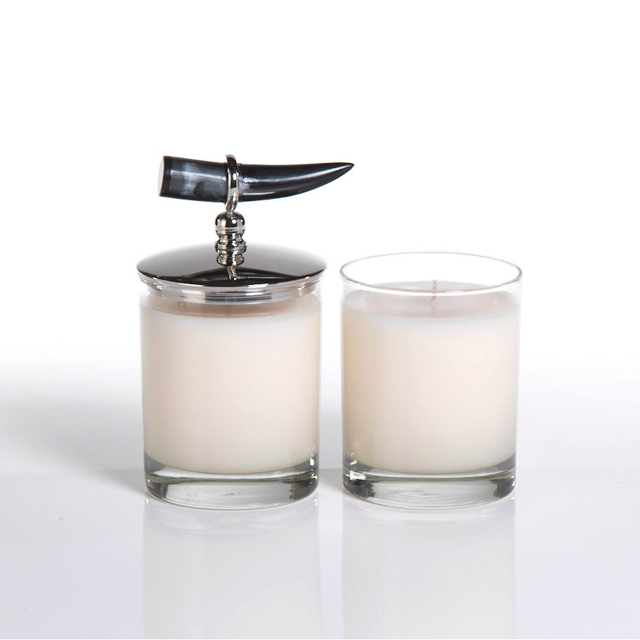 Casablanca Scented Candle Jar with Horn Lid - Set of 2 - CARLYLE AVENUE