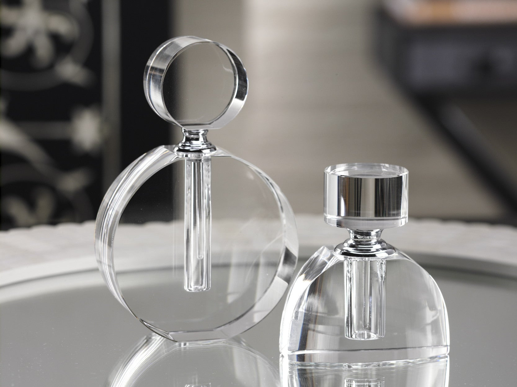 Modern Morocco Glass Perfume Bottles - CARLYLE AVENUE