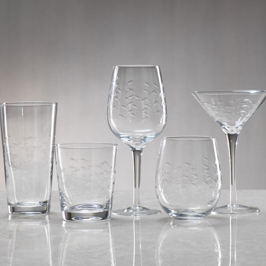 Coral Beach Fish Cut Glassware - CARLYLE AVENUE