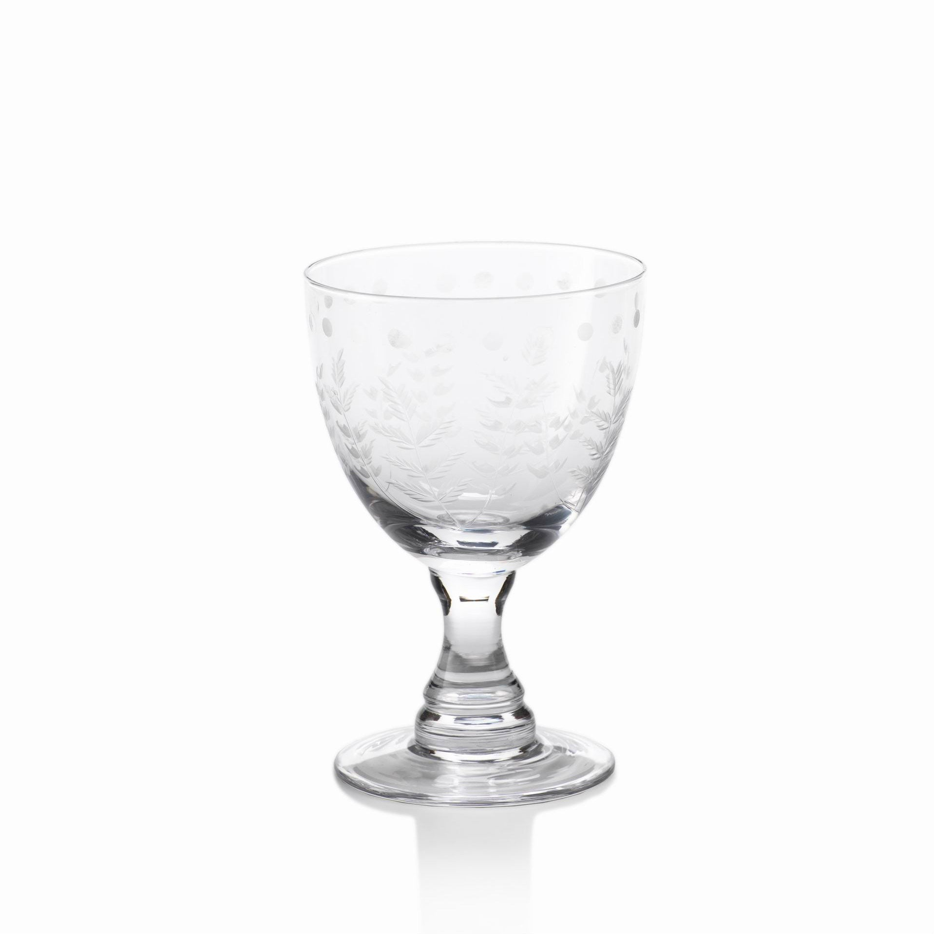 Spring Leaves Glassware - Set of 4 - Red White Glasses - CARLYLE AVENUE - 2