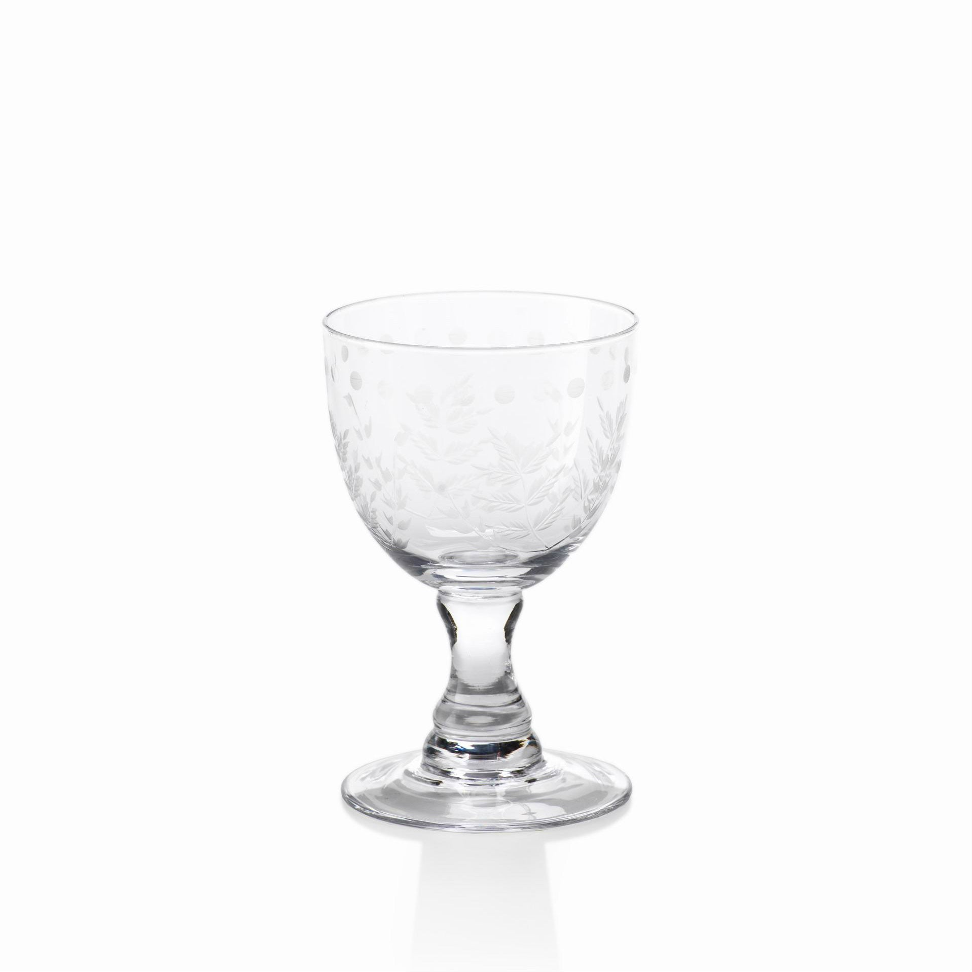 Spring Leaves Glassware - Set of 4 - White Wine Glasses - CARLYLE AVENUE - 3