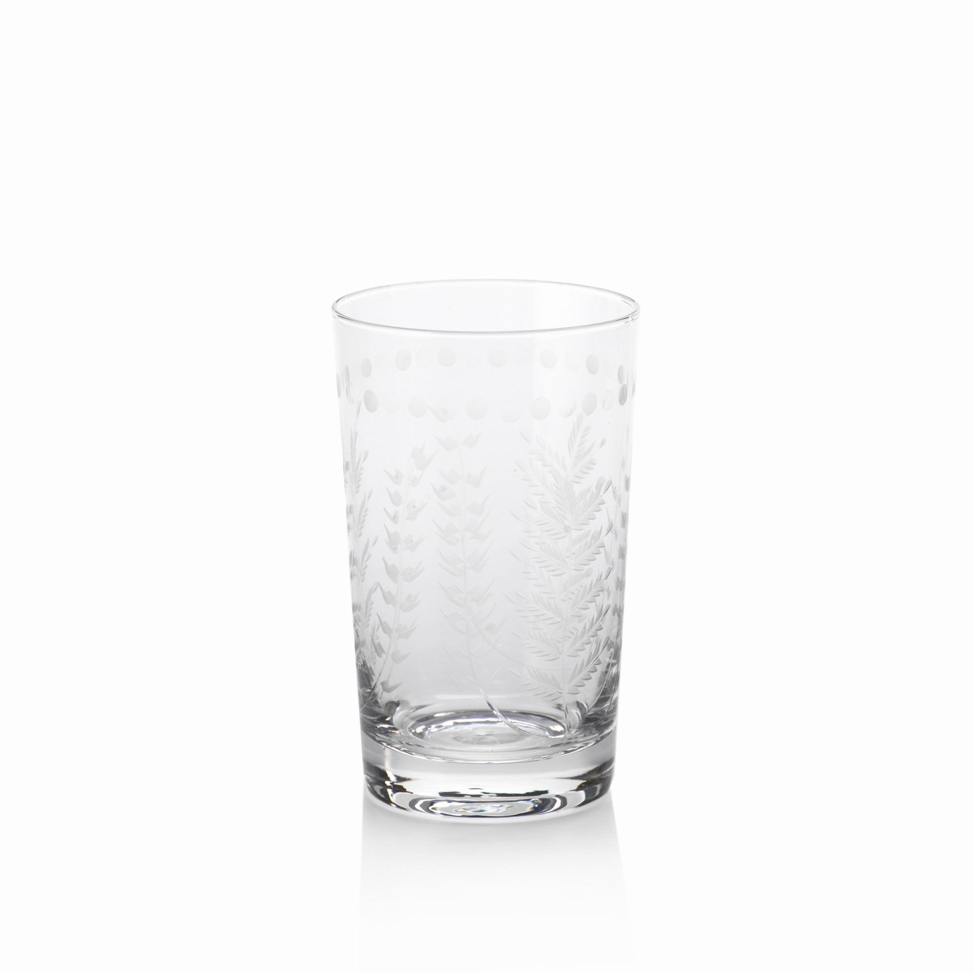 Spring Leaves Glassware - Set of 4 - High-Ball Glasses - CARLYLE AVENUE - 4