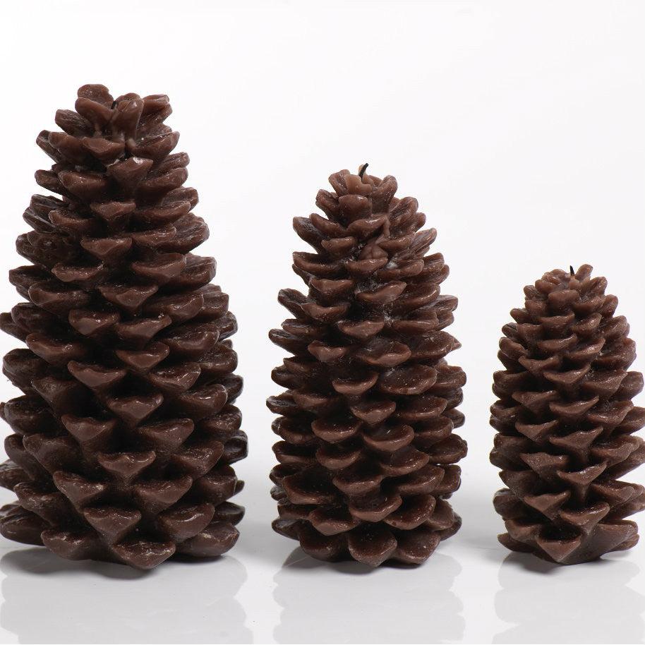 Pine Cone Candle - Brown - Set of Four -  - CARLYLE AVENUE - 1