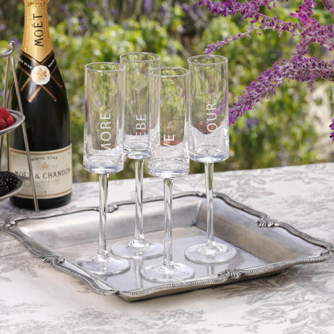 Love Champagne Flutes - Set of 6