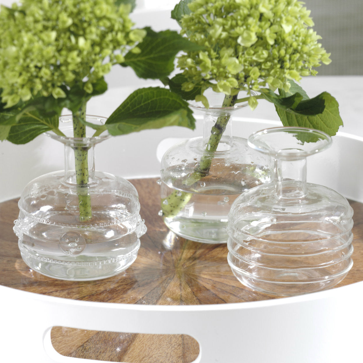 Unique Glass Vases - Set of 3 - CARLYLE AVENUE