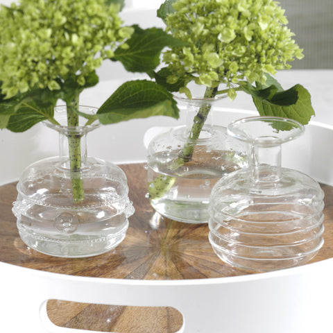 Unique Glass Vases - Set of 3