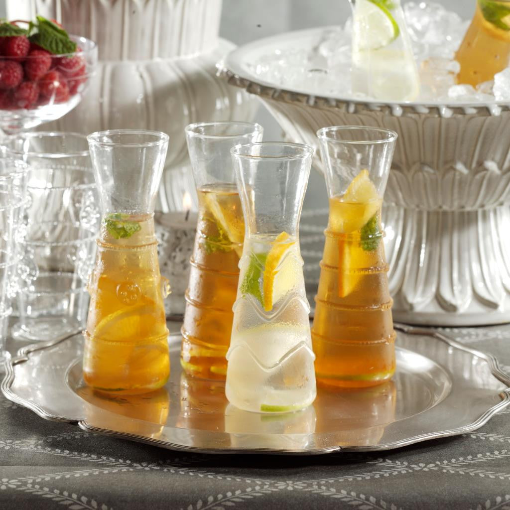 Raised Design Individual Carafes - Set of 6 - CARLYLE AVENUE