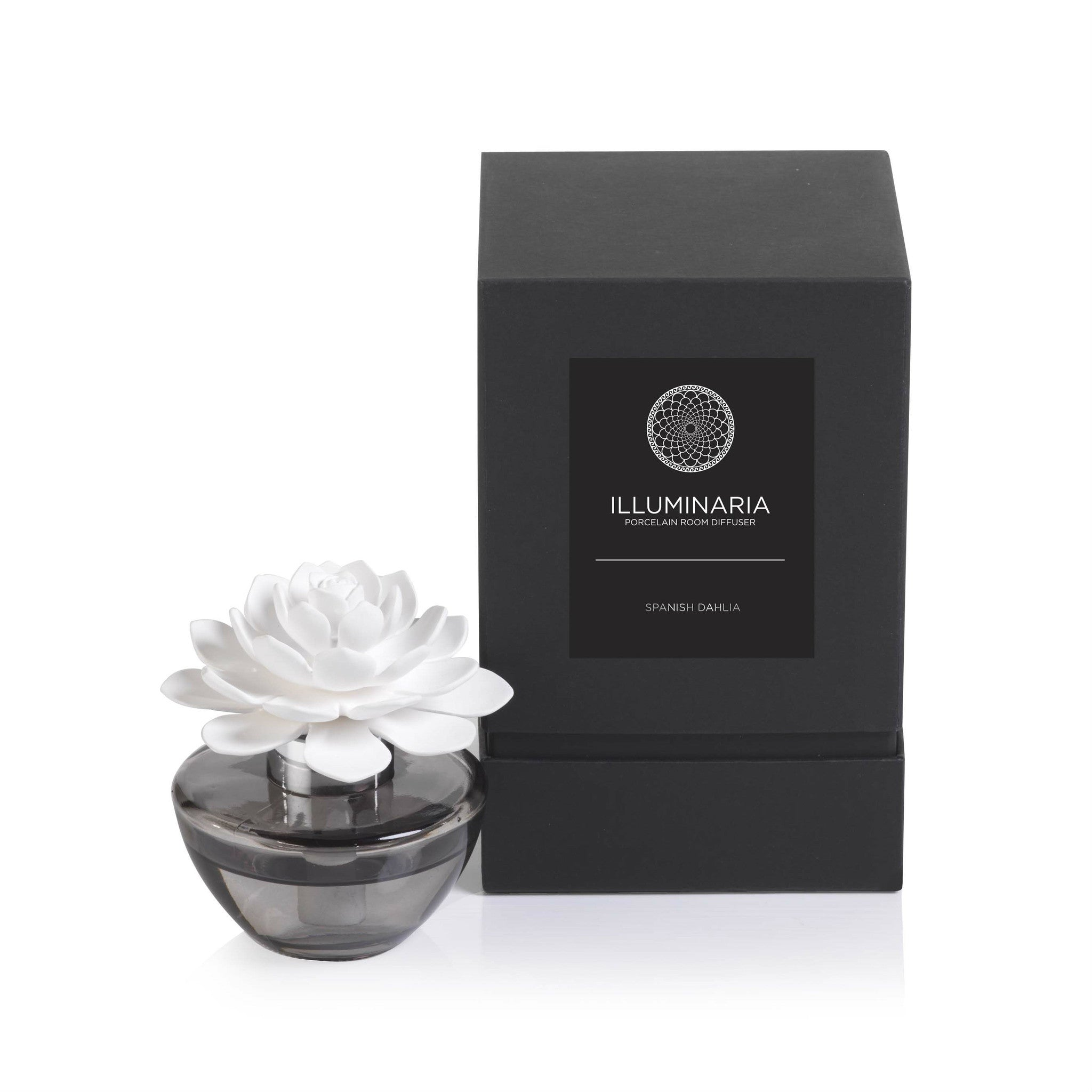 Illuminaria Porcelain Diffuser in Gray Bottle - Spanish Dahlia - CARLYLE AVENUE - 5
