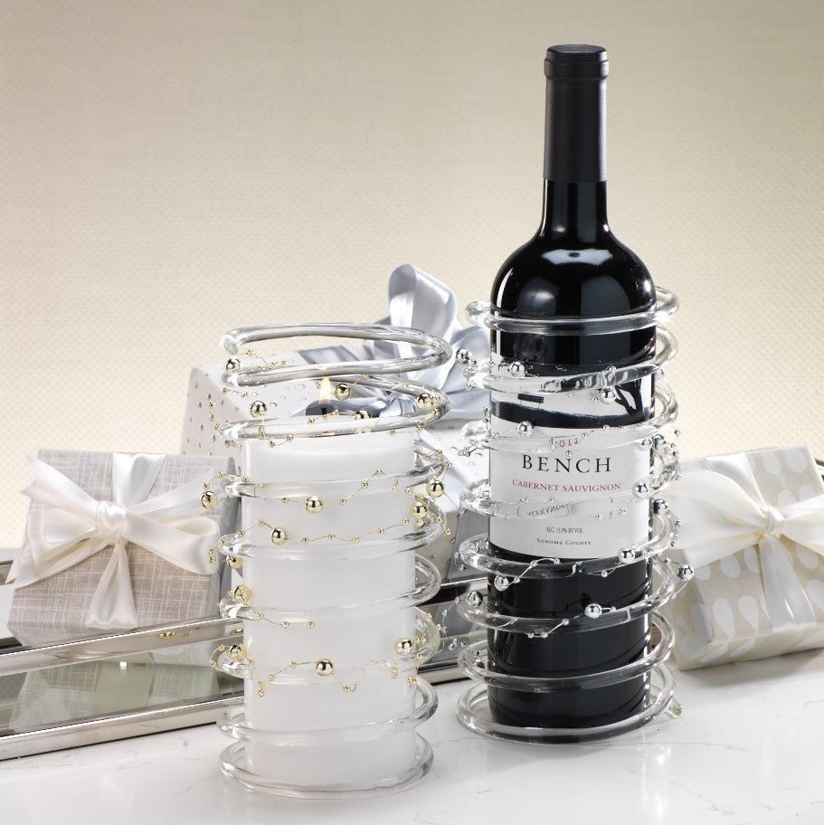 Glass Candle Holder and Bottle Holder