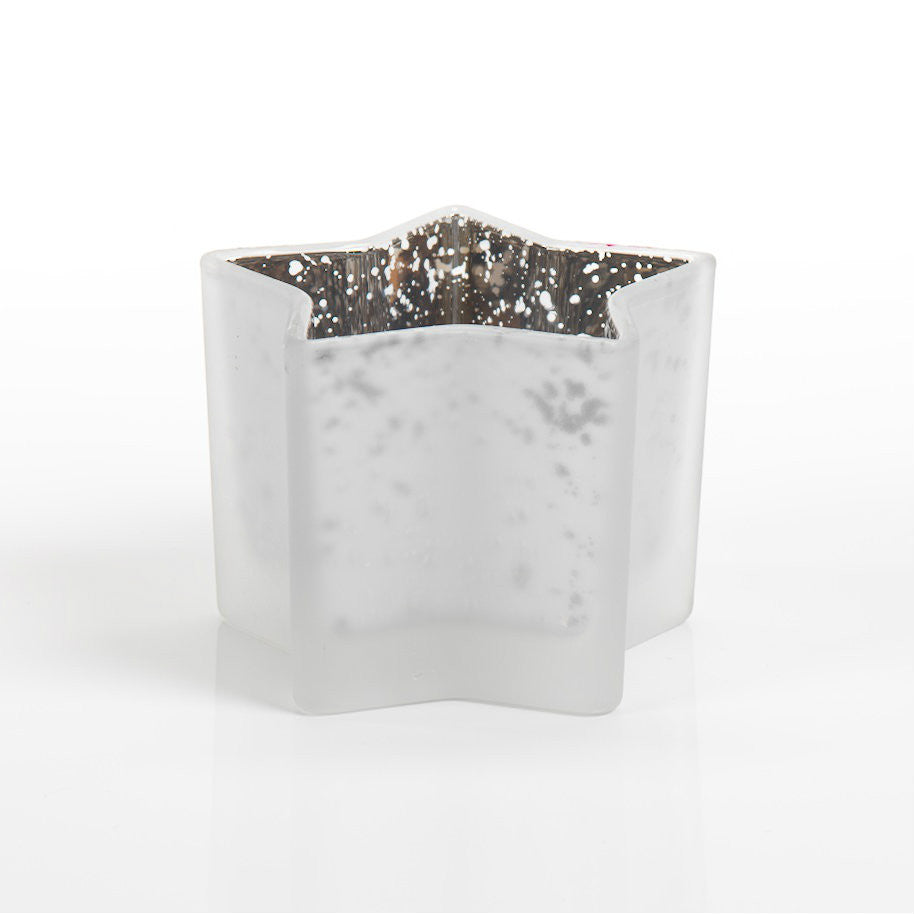 Glass Star Tealight Holder - Set of 4 - White - CARLYLE AVENUE - 2
