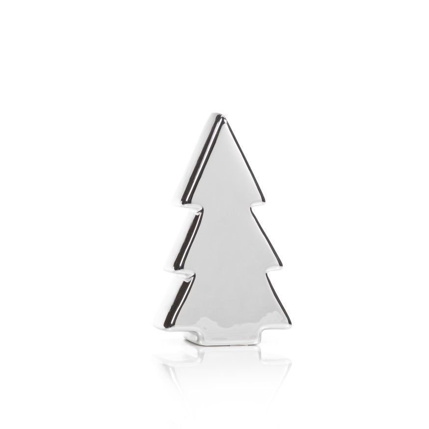 silver plated ceramic christmas tree - Silver Plated Christmas Tree Decorations