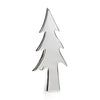 Silver Plated Ceramic Stemmed Christmas Tree