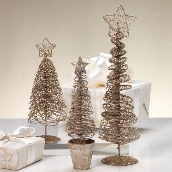 Glitter Wire Tree with Star Topper - CARLYLE AVENUE