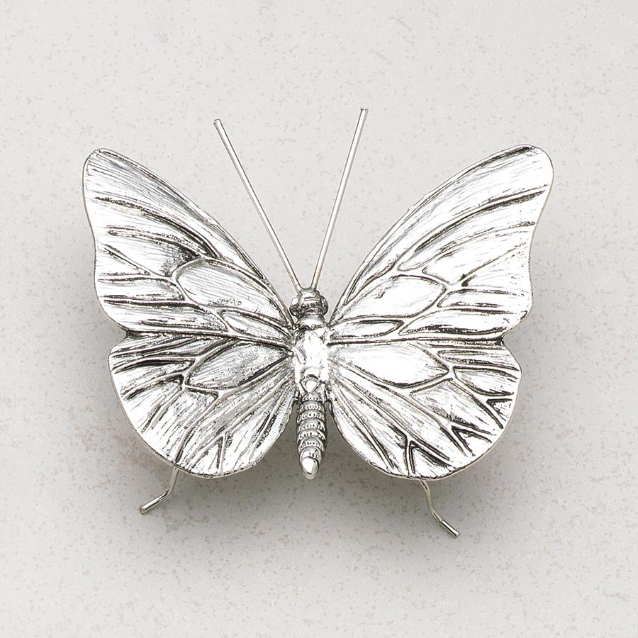 Decorative Antique Pewter Butterfly