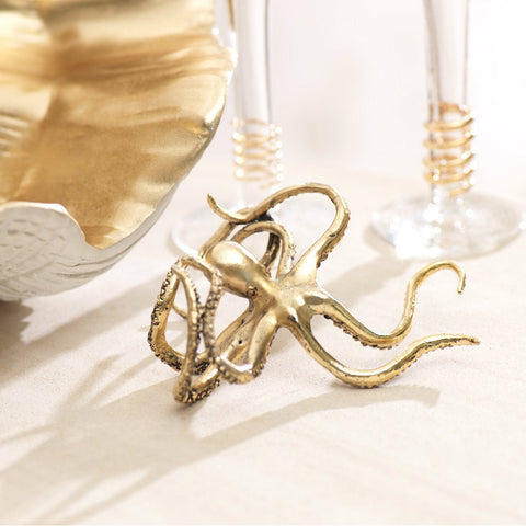 Decorative Gold Octopus