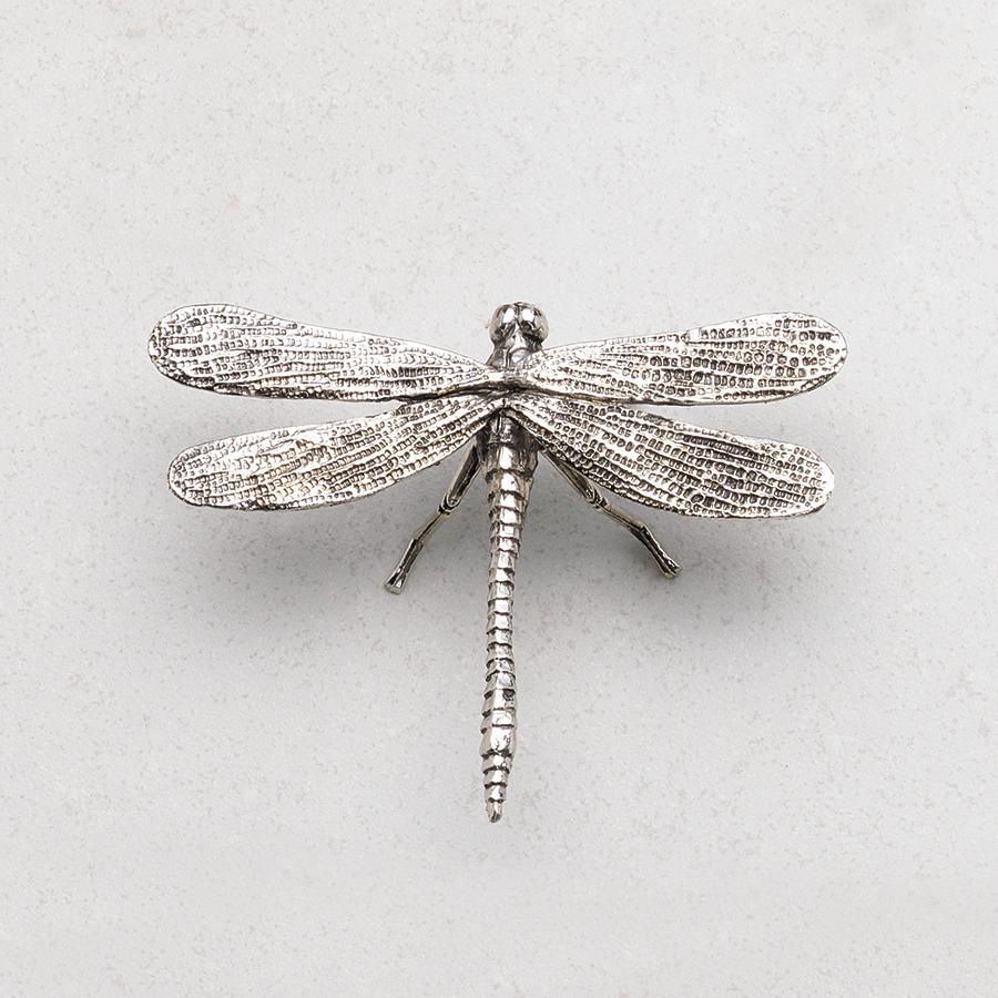 Decorative Antique Pewter Dragonfly