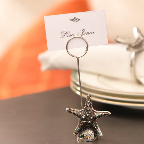 Coastal Starfish Name Card Holder - Set of 6