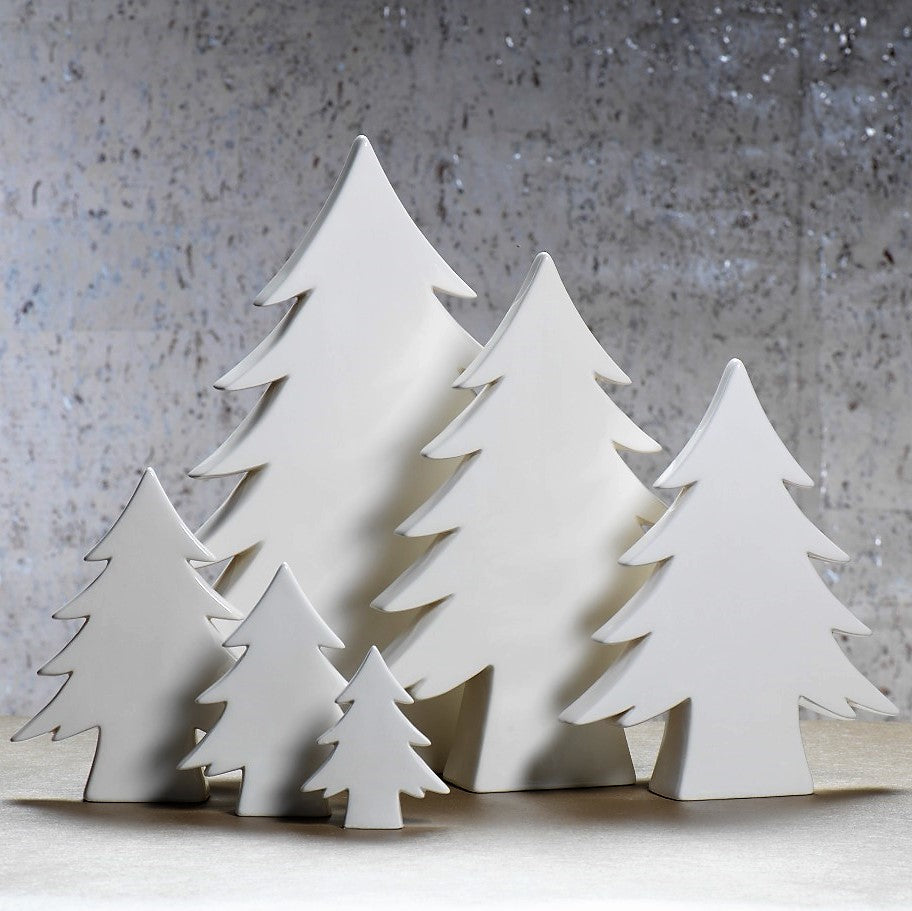 Teton White Ceramic Tree - CARLYLE AVENUE