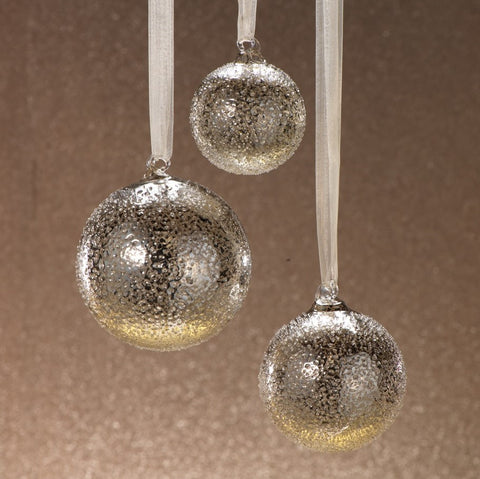 Antique Silver Round Ornaments