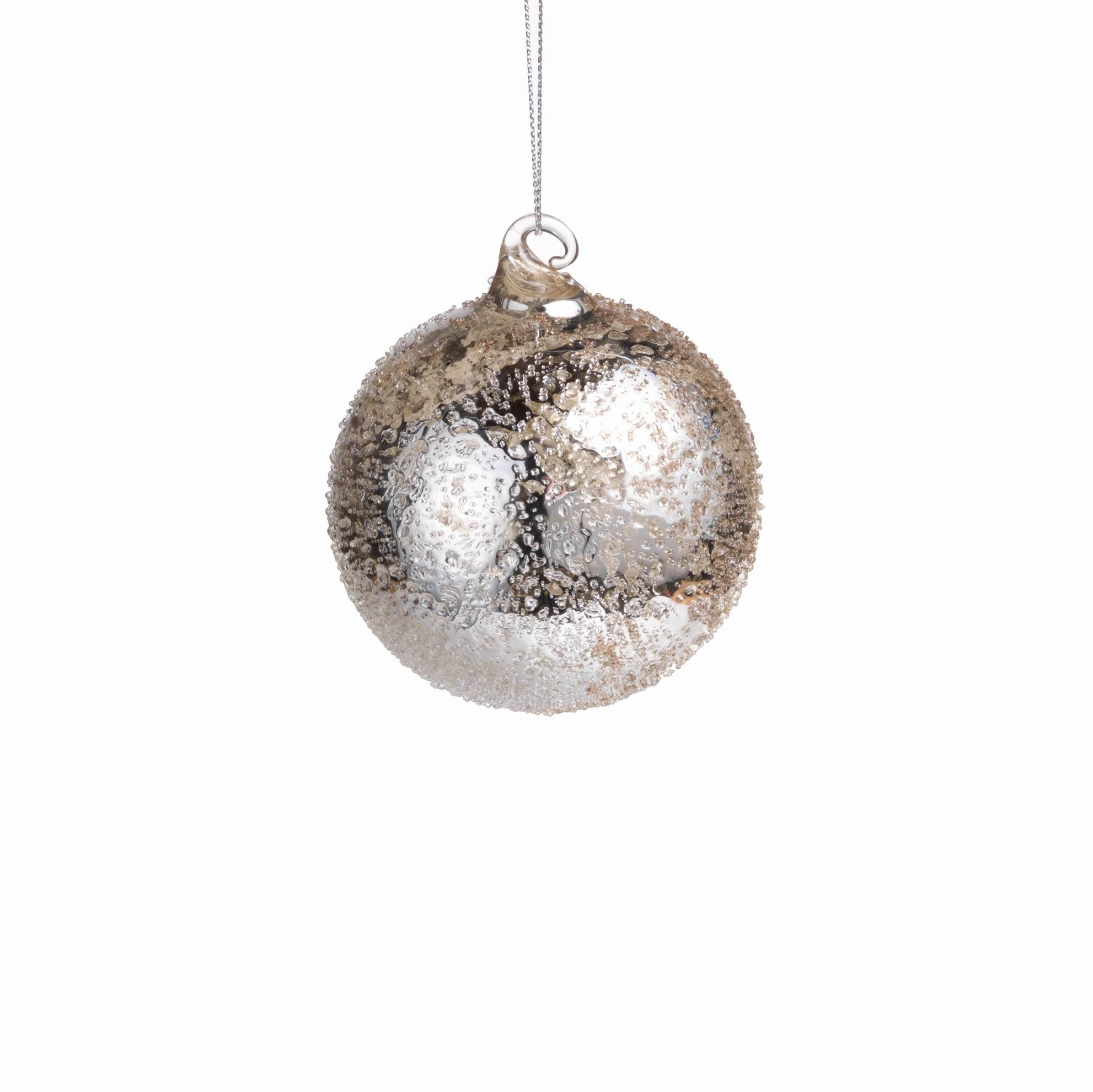 Antique Silver Round Ornaments - CARLYLE AVENUE