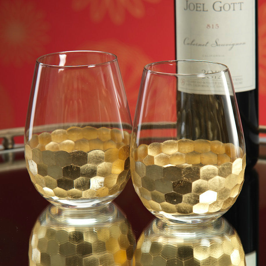 Fez Stemless Wine Glass - Gold - Set of 6 -  - CARLYLE AVENUE - 2