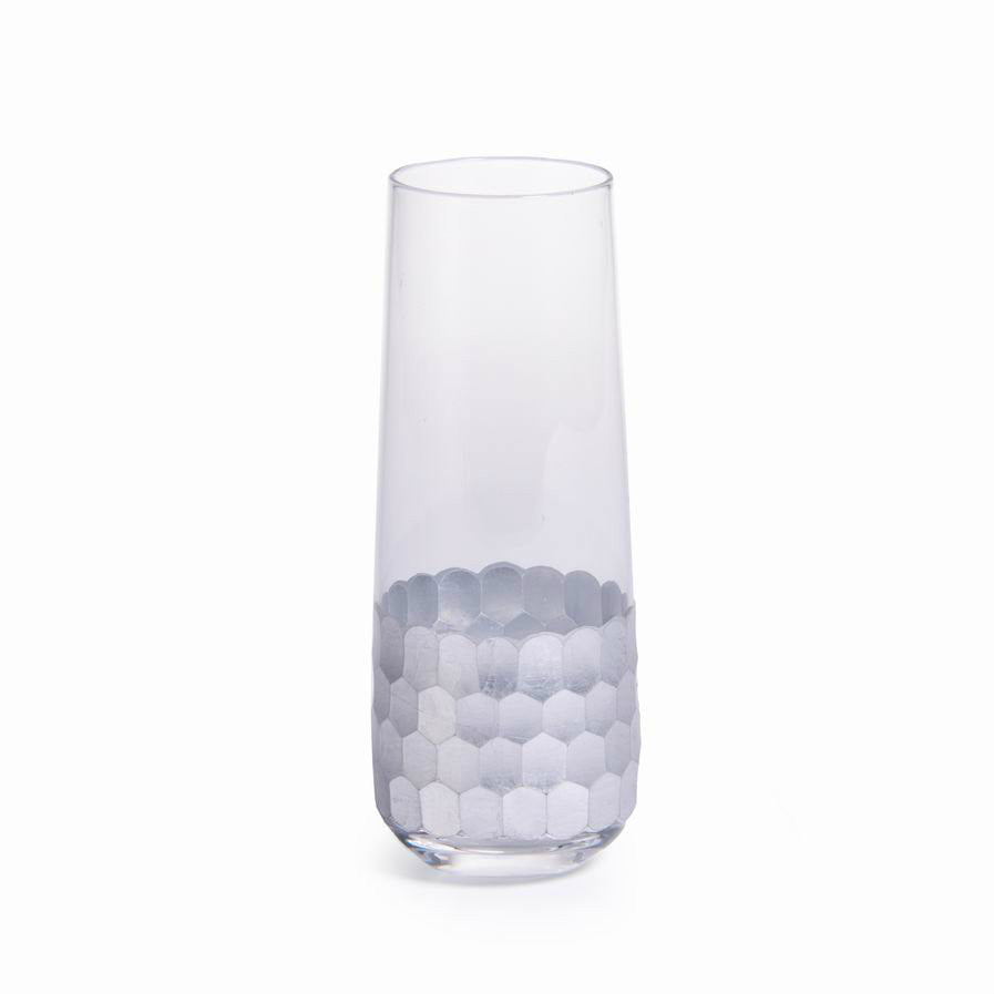Fez Stemless Flute - Silver - Set of 6 - CARLYLE AVENUE