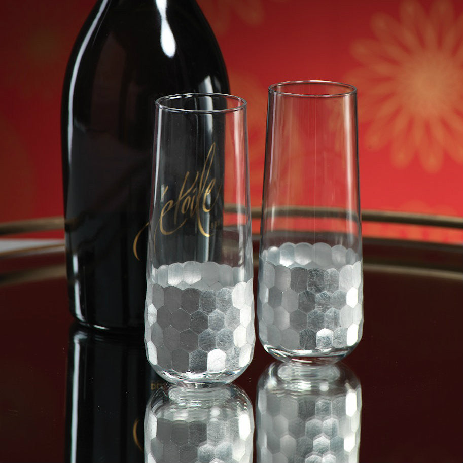 Fez Stemless Champagne Flute - Silver - Set of 6 -  - CARLYLE AVENUE - 2