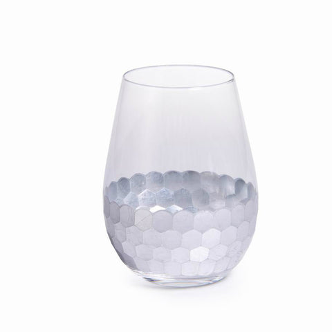 Fez Stemless Glass - Silver - Set of 6
