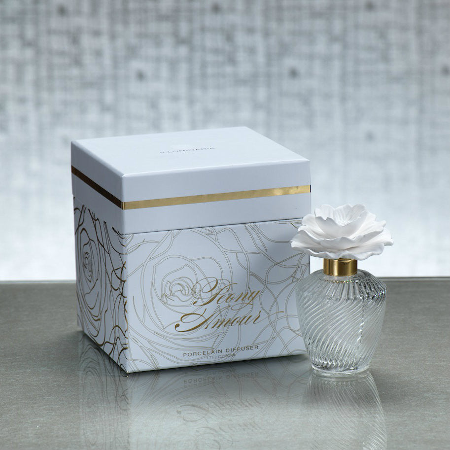 Illuminaria Garden of Love Porcelain Diffuser - Peony Amour - CARLYLE AVENUE - 3